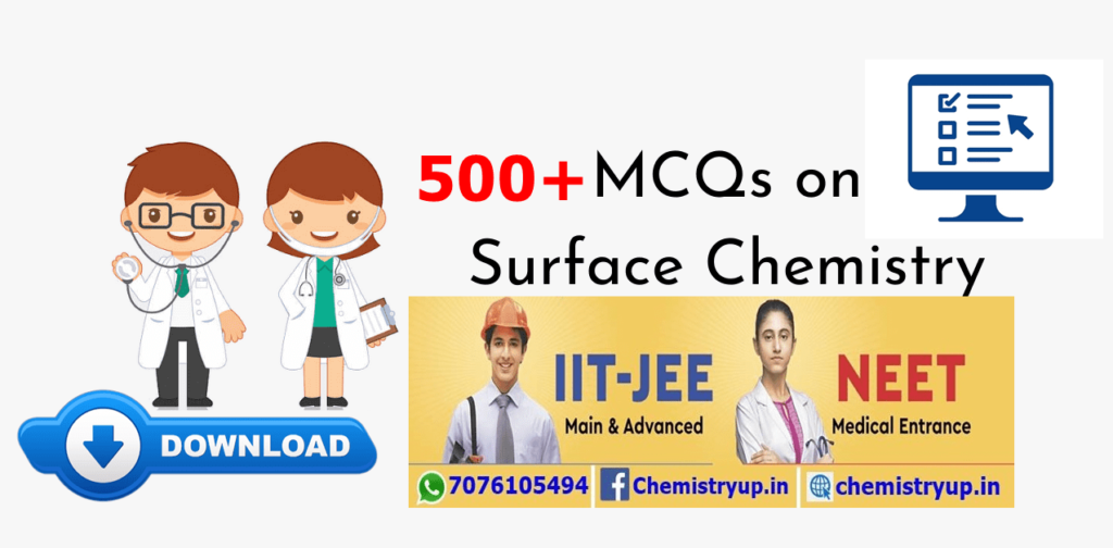 Class 12 MCQ on Surface Chemistry For NEET & JEE Main