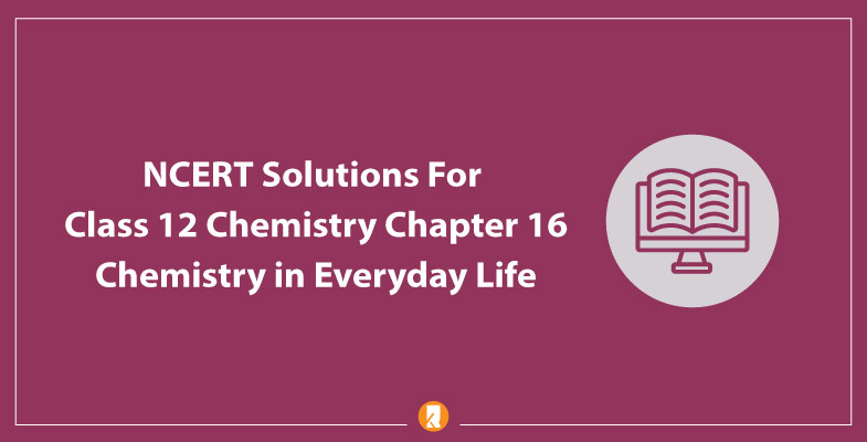 NCERT Solutions For Class 12 Chemistry Chapter 16 Chemistry in Everyday Life