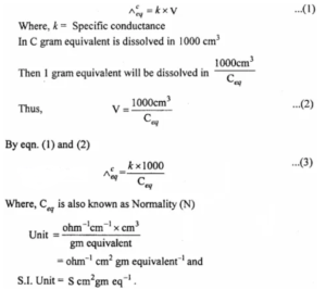 What is equivalent conductance?
