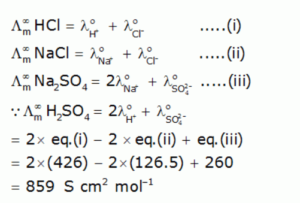 calculate molar conductivity at infinite dilution of H2SO4