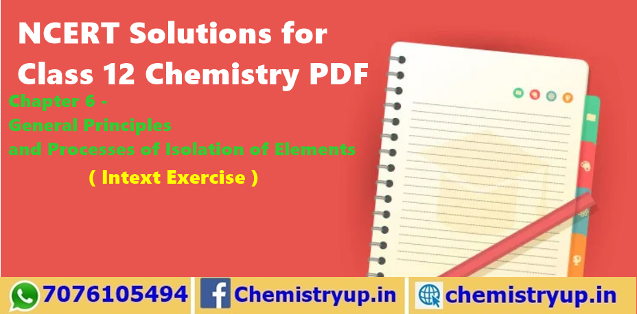 Principles and Processes of Isolation of Elements NCERT Solutions for Class 12 Chemistry