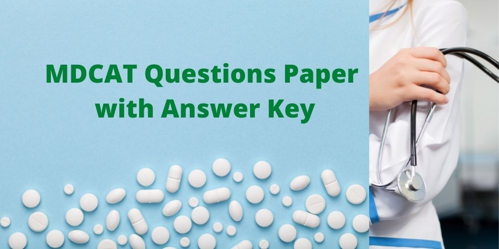 MDCAT Past Questions Paper with Answer Key