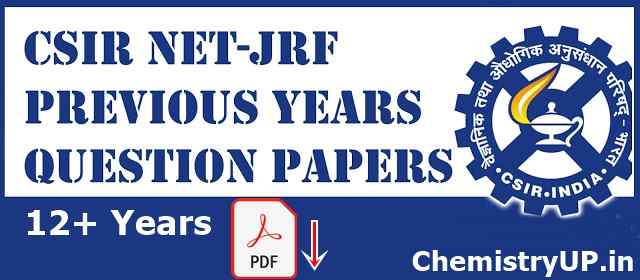 CSIR NET JRF Previous Years Question Papers with Answer Key