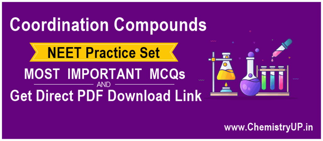 Coordination Compounds MCQ for NEET S01