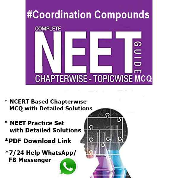 Coordination Compounds MCQ for NEET PDF Download Now Free 2022