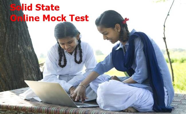 Solid State Chemistry Free Mock Test 2022