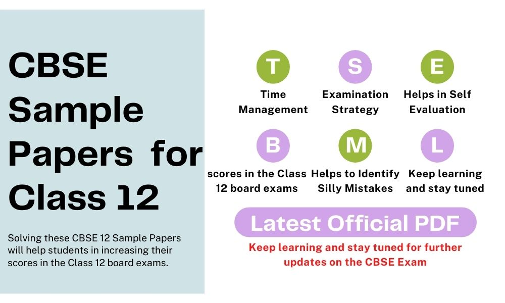 CBSE Sample Papers for Class 12 - Official PDF