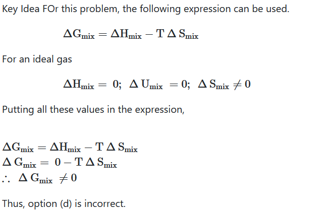 Which one of the following is incorrect for ideal solution NEET 2016